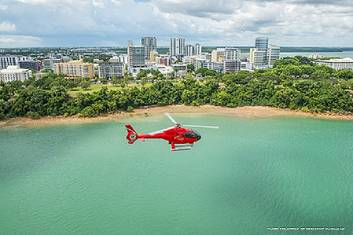 Nautilus Aviation flying over Darwin
