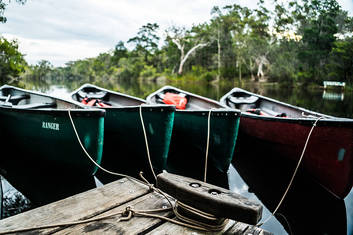 Canoes on the Everglades