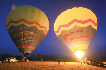 Pre-dawn readying to fly Balloons
